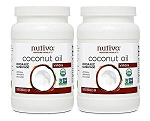 Nutiva Organic, Cold-Pressed, Unrefined, Virgin Coconut Oil from Fresh, non-GMO, Sustainably Farmed Coconuts, 15-ounce (Pack of 2)